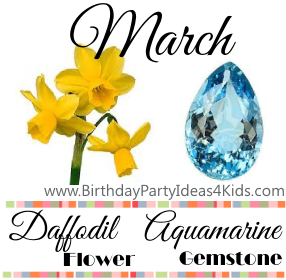 March Birthday Gemstone and Flower