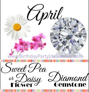 April birthday's gemstone and birthday flower