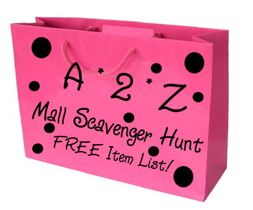 A to Z Mall Scavenger Hunt