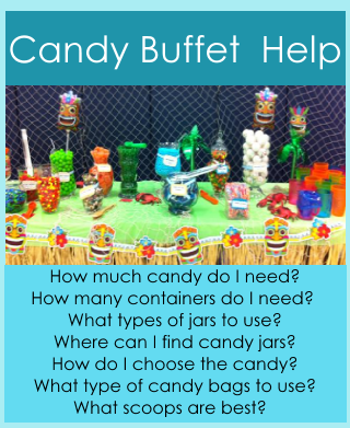 Candy Buffet HELP!   How to plan and set up a Candy Buffet - http://www.birthdaypartyideas4kids.com/candy-buffet-help.htm