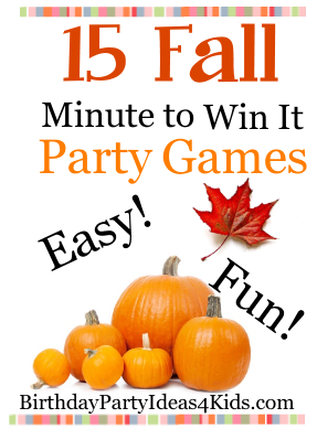 15 Minute to Win it Style party games for kids